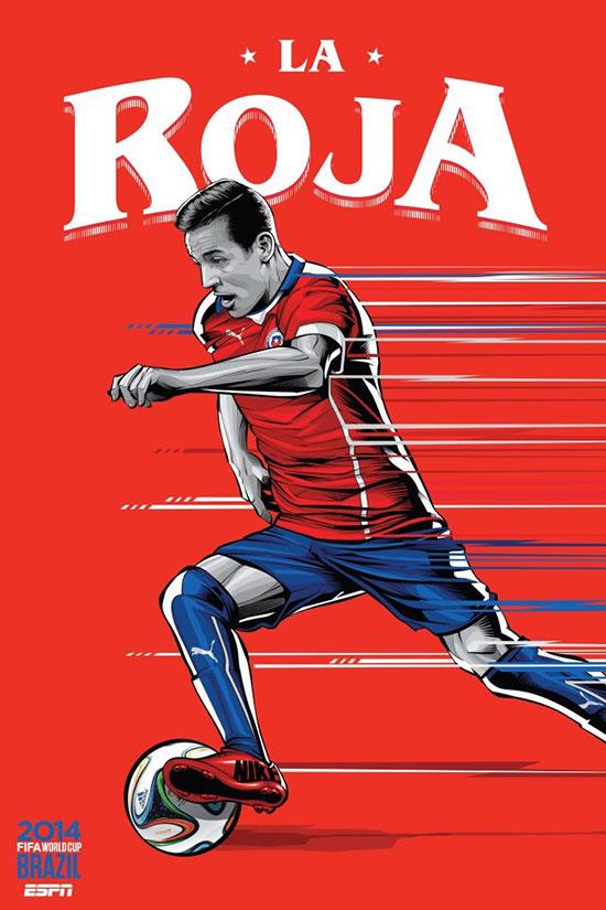 2014世界杯決賽圈宣傳海報設計欣賞