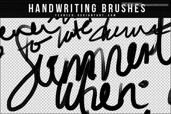 手绘英文字体装饰笔刷