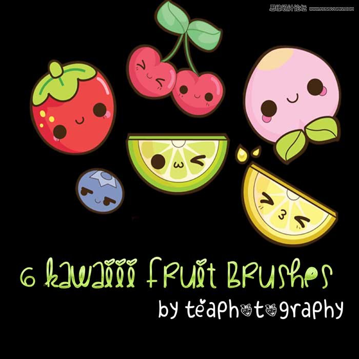 可爱的水果图标设计笔刷