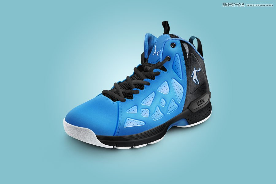 Photoshop绘制逼真的乔丹运动鞋教程
