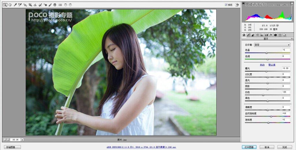 Photoshop调出美女人像小清新效果图