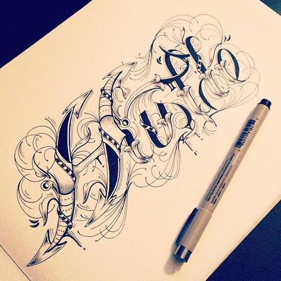 创意字体设计手绘