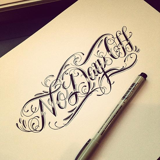 精选国外创意大气的手绘字体设计欣赏