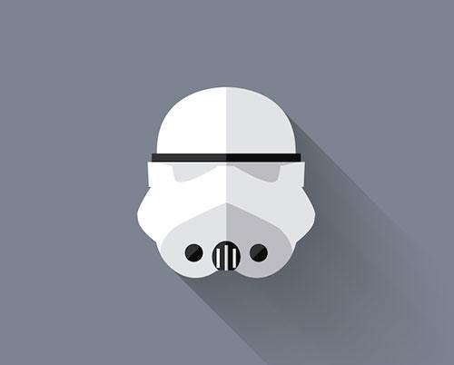 国外创意黑白风格企业标志设计欣赏  今天和大家分享一组星球大战极简