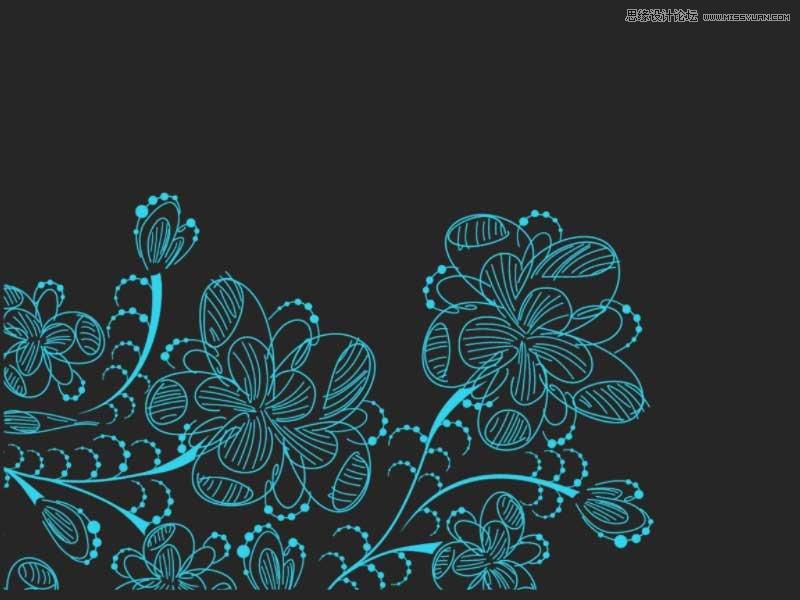 手绘线条花朵装饰笔刷 卡通涂鸦钻石和图案笔刷 时尚的花纹和花朵分