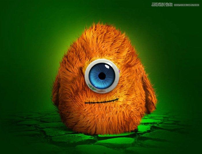 眼睛部分跟动物眼睛制作方法类似;身体部分可以先画