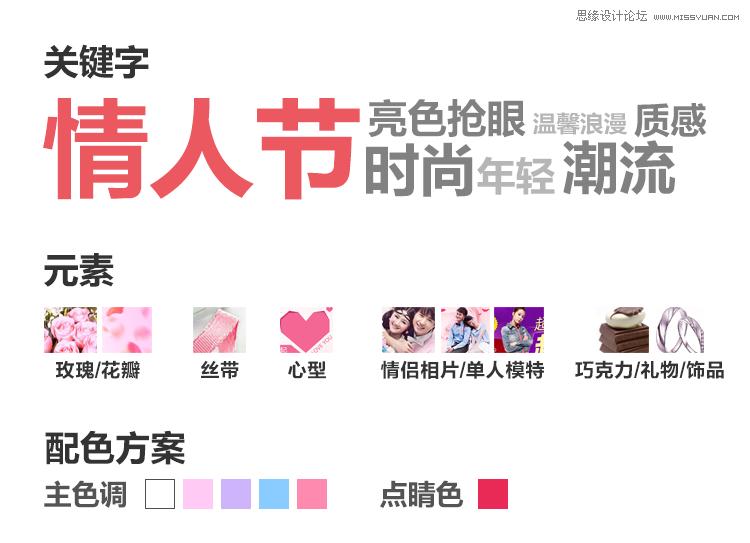 如何設計電商平台七夕活動滿屏海報
