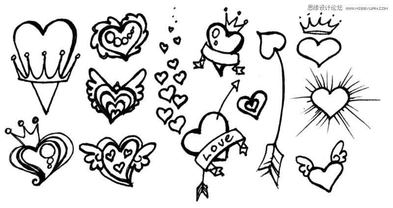 爱情简笔画图片大全,爱情背景简笔画,情侣简笔画