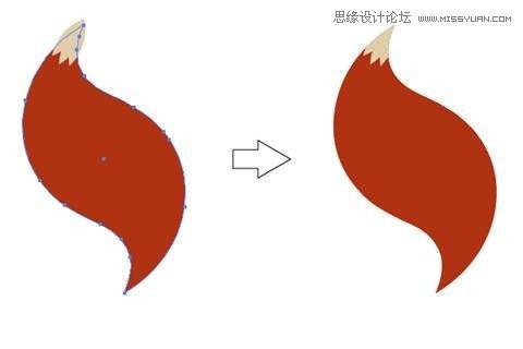 风格的卡通狐狸图标