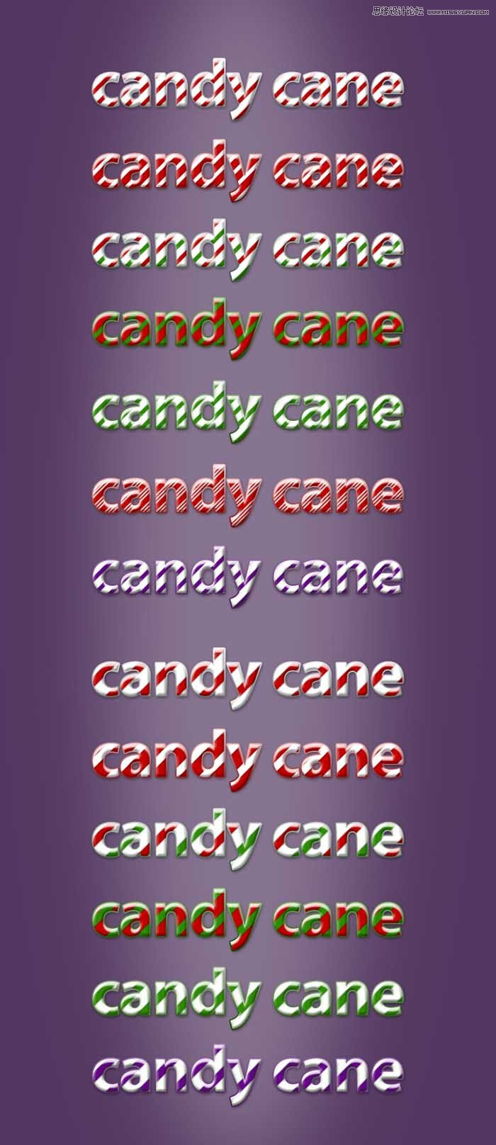 圣诞节可爱糖果风格字体样式