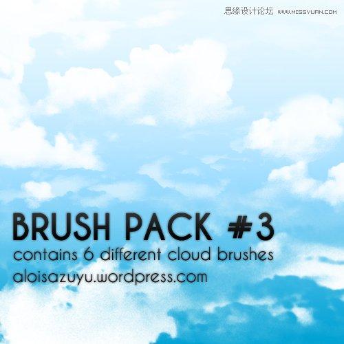 卡通风格的云彩云朵笔刷