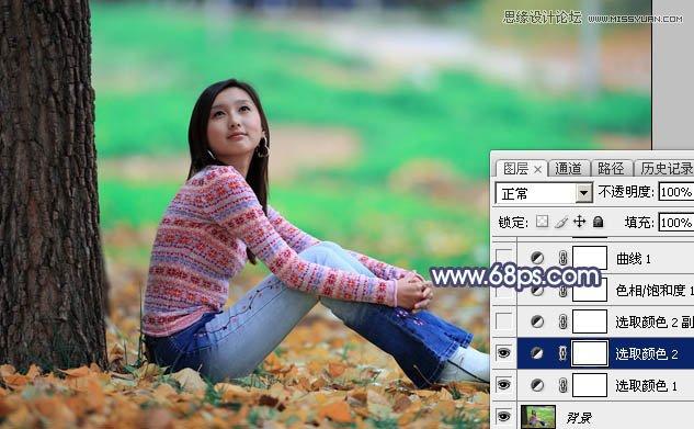 Photoshop调出树下女孩甜美的暖色调,PS教程