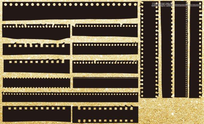 逼真的电影胶片效果ps形状