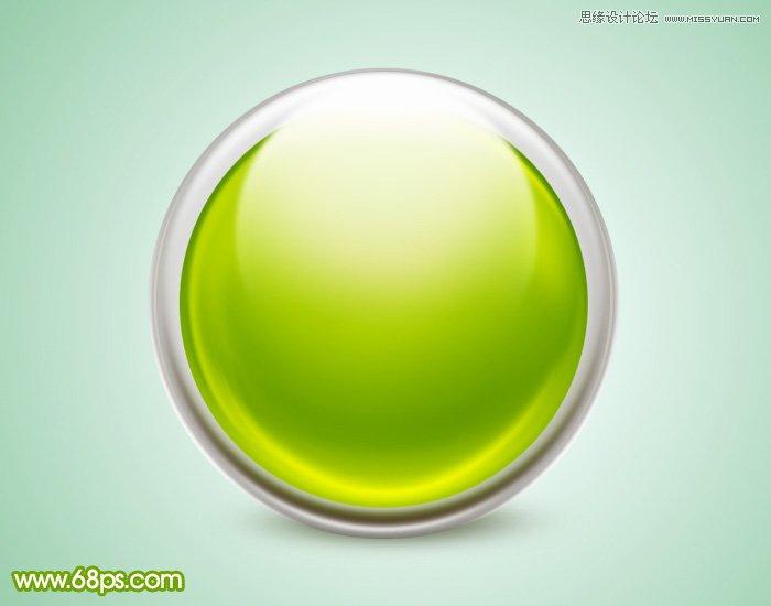 photoshop设计绿色立体风格的水晶球(3)