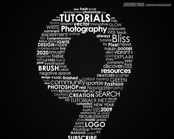 78 [ps制作]绚丽的英文字体组成的艺术字