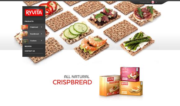 30款超有食欲的美食网站设计欣赏,PS教程,思缘教程网