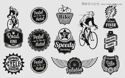 ps自行车立面矢量图素材