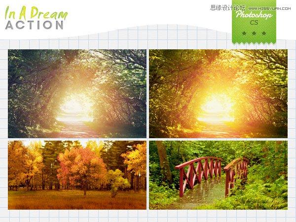 数码照片清新风格效果调色动作
