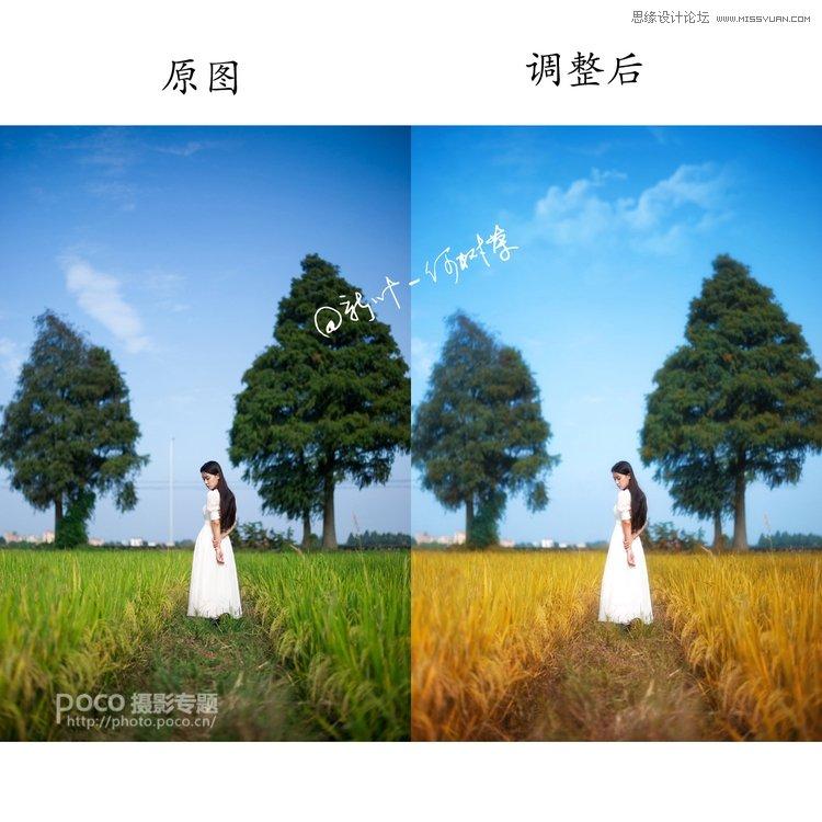 <a href=http://www.06ps.com/ target=_blank class=infotextkey>photoshop</a>调出人像外景秋季淡黄色调,PS教程