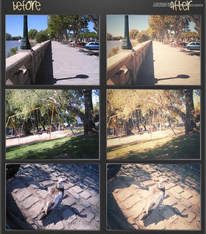 数码照片怀旧效果调色动作