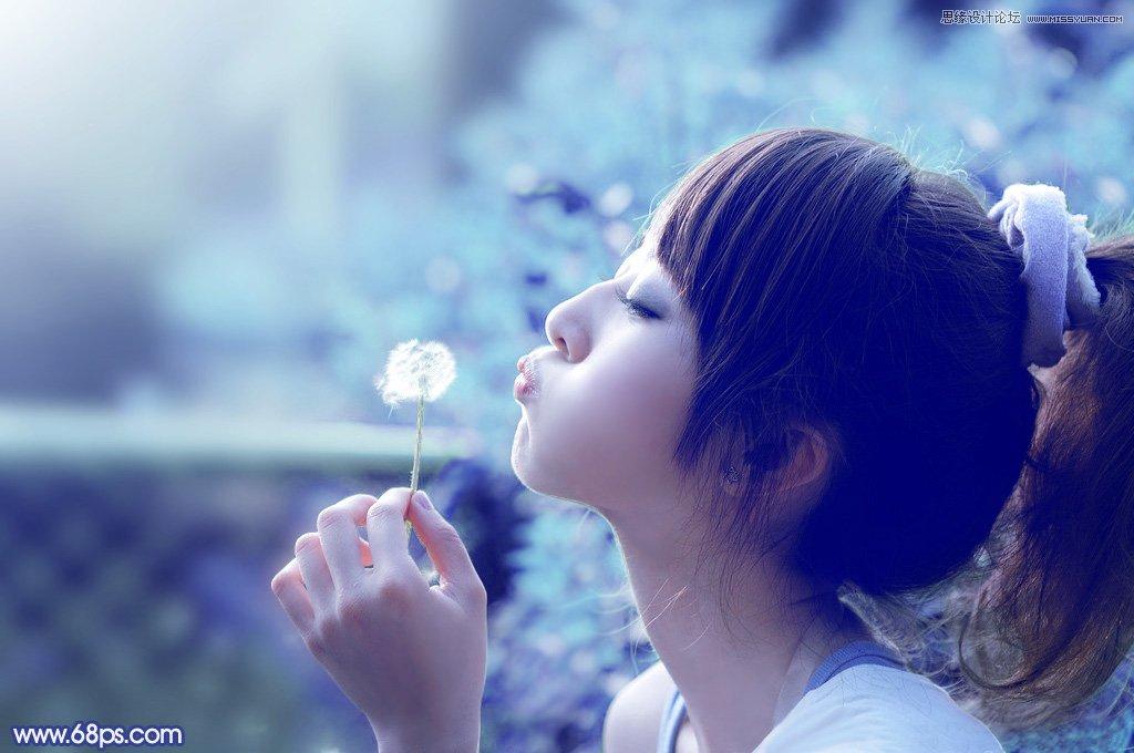 本教程主要使用photoshop调出可爱女生唯美的蓝色效果,素材图片背景