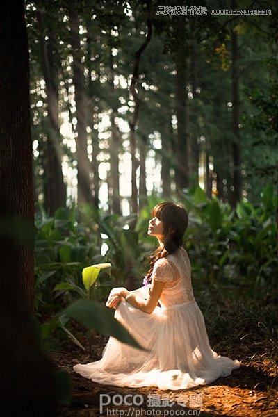 Photoshop调出梦幻风格的森林公主场景图,PS教程