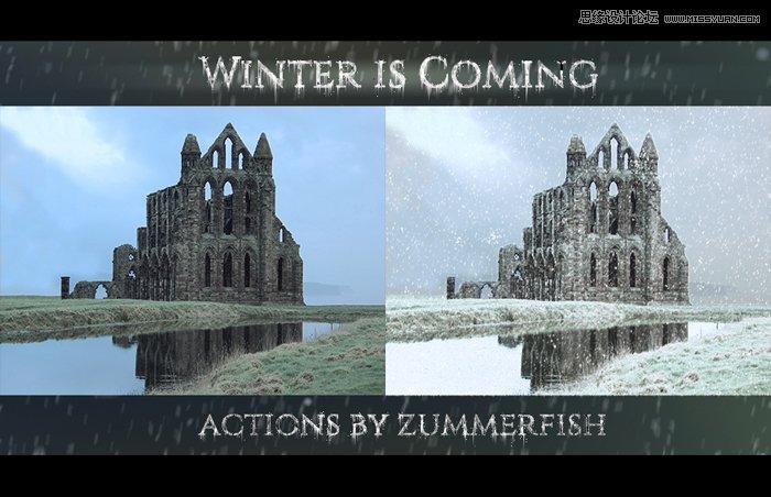 数码照片添加下雪效果动作