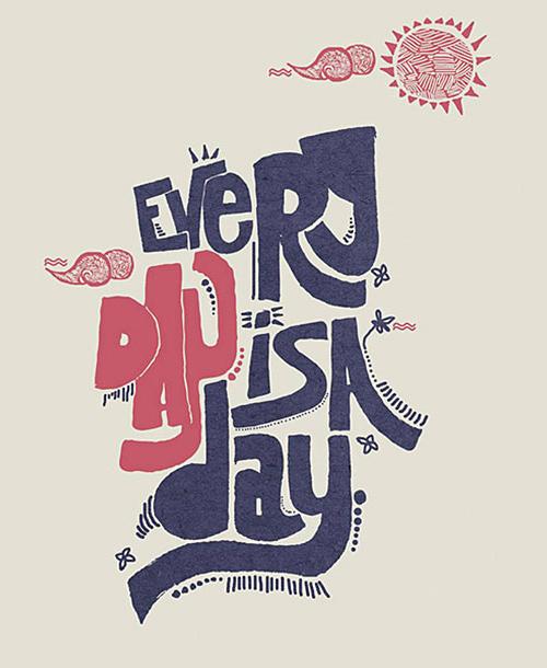 精选国外创意独特的手写字体设计欣赏图片
