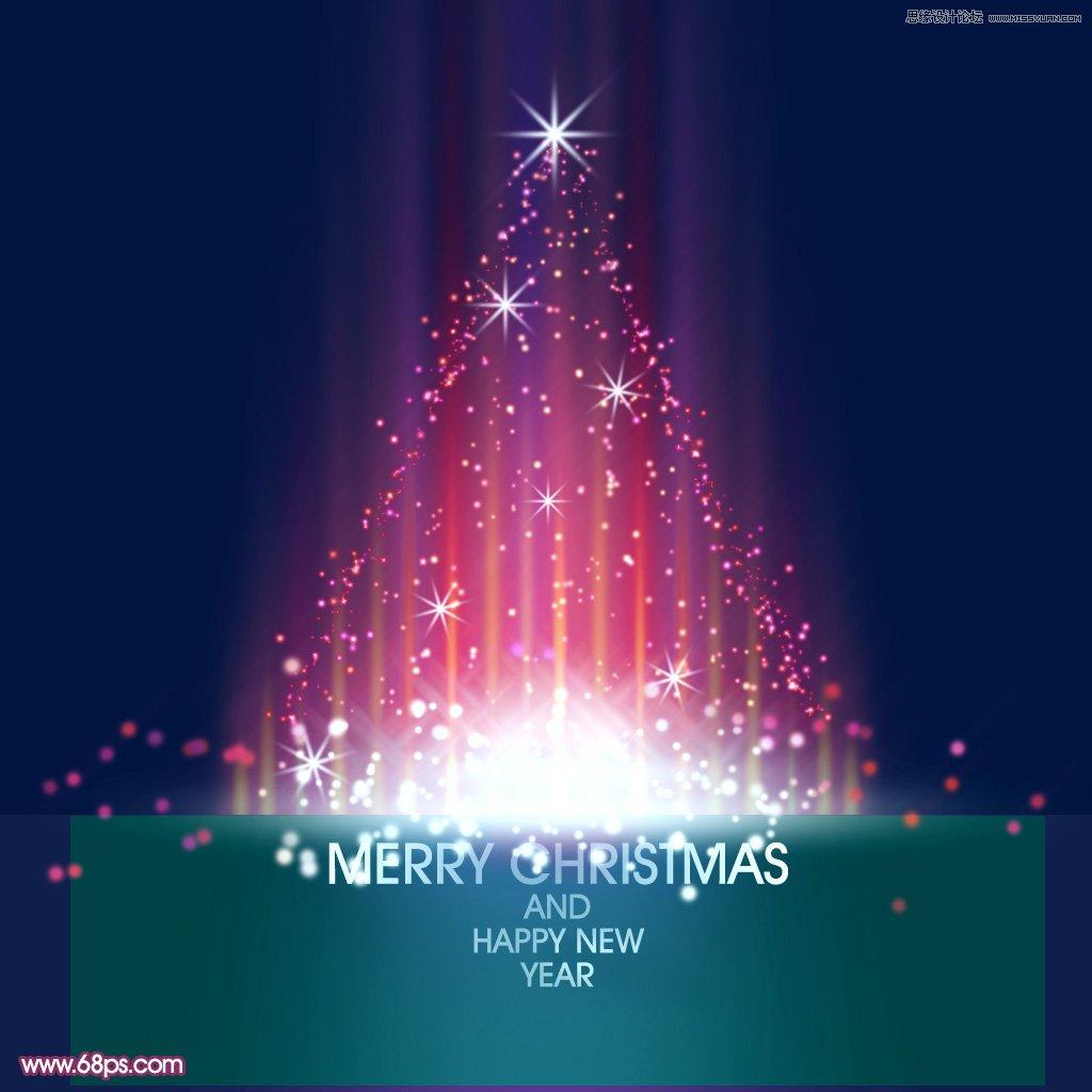 绚丽的圣诞树装饰图