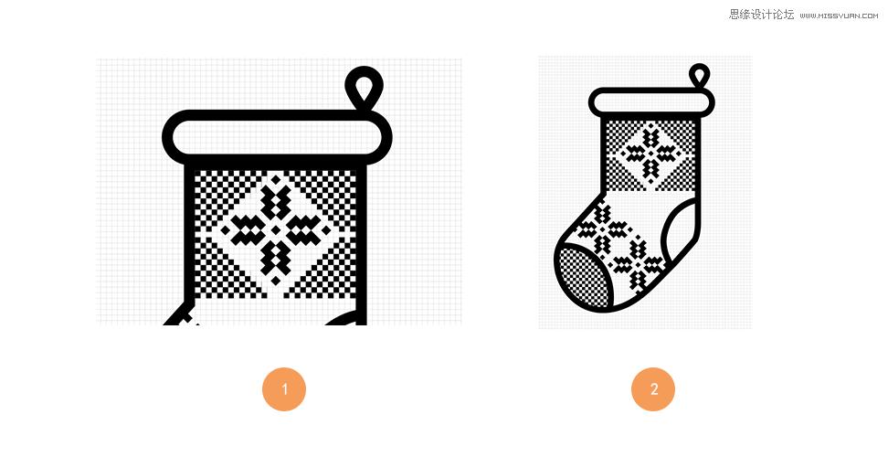 illustrator简单的绘制可爱的圣诞节小图标