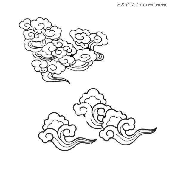 中国传统祥云装饰笔刷