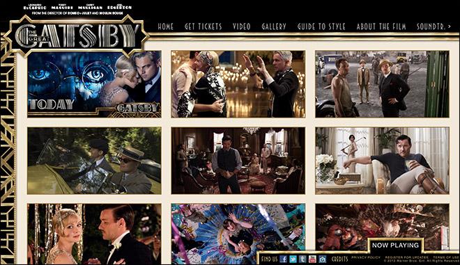 精選唯美的好萊塢經典電影網站設計欣賞