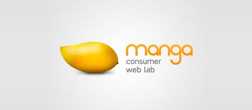 30款以芒果为基础元素的logo设计欣赏