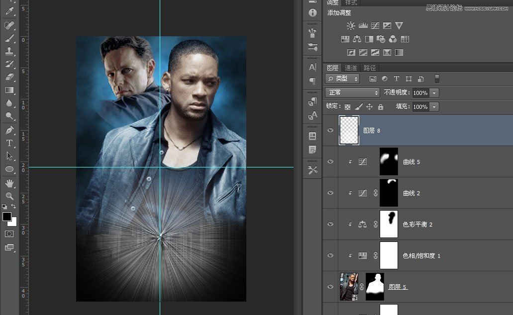 photoshop好莱坞电影海报教程之我机器人