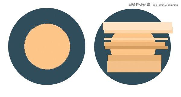 photoshop设计扁平化风格的行星和雷达图标
