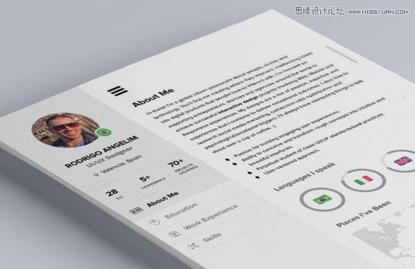 22款高端大气的个人简历设计psd模板下载(免费)