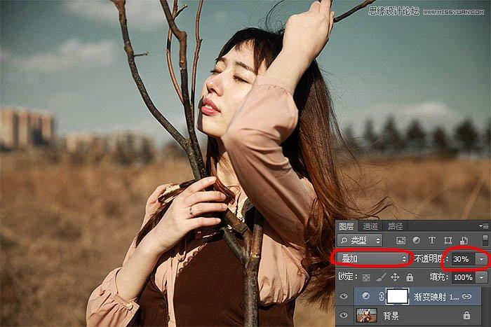 Photoshop调出外景人像唯美冷色效果,PS教程
