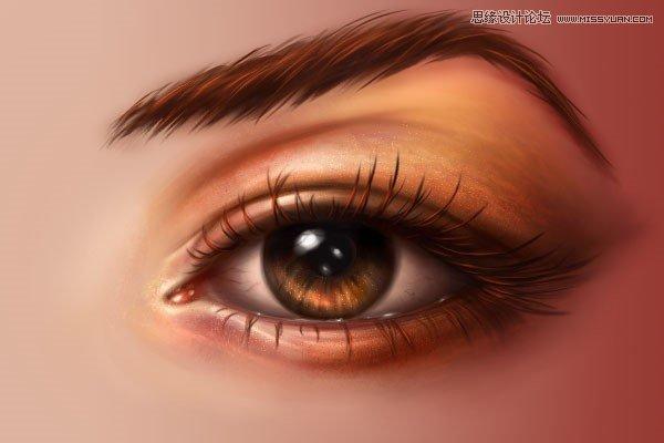 Photoshop鼠繪逼真細膩的人像眼睛效果