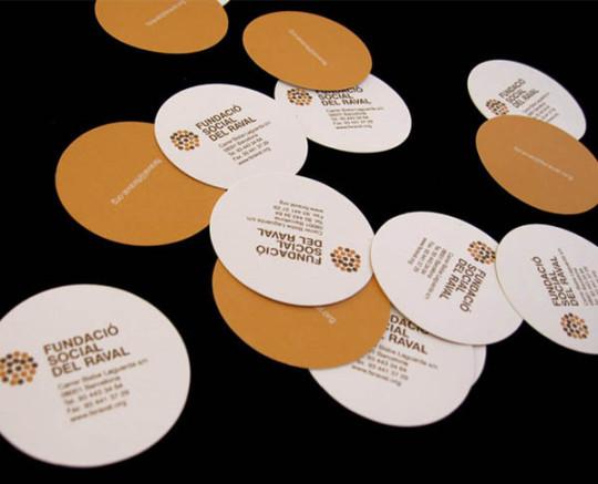 30款创意独特的圆形名片设计欣赏