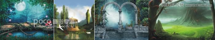 Photoshop简单的解析童话场景的合成思路,PS教程