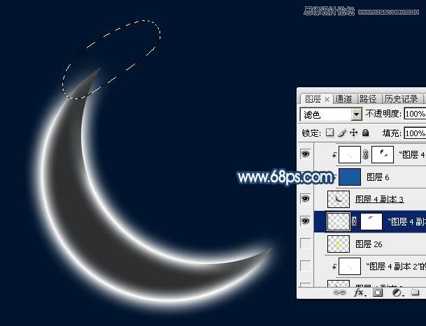 光装饰的月亮效果图