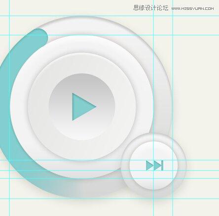 Photoshop转载圆形的图标播放器UI时尚-绘制手绘v圆形旗图片