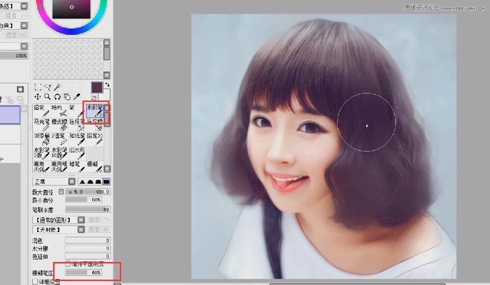 photoshop结合sai给清纯小女孩照片转手绘