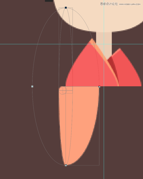 Photoshop繪製日系風格的和服小妹圖標