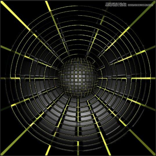Photoshop製作創意的蜘蛛網風格喇叭