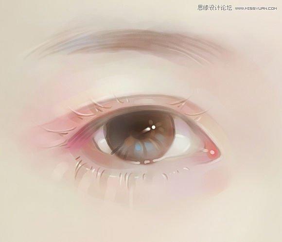 漂亮少女眼睛手绘