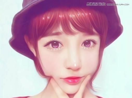 photoshop结合sai软件把可爱女孩照片转手绘