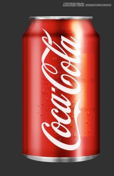 Photoshop繪製逼真的可口可樂易拉罐圖標