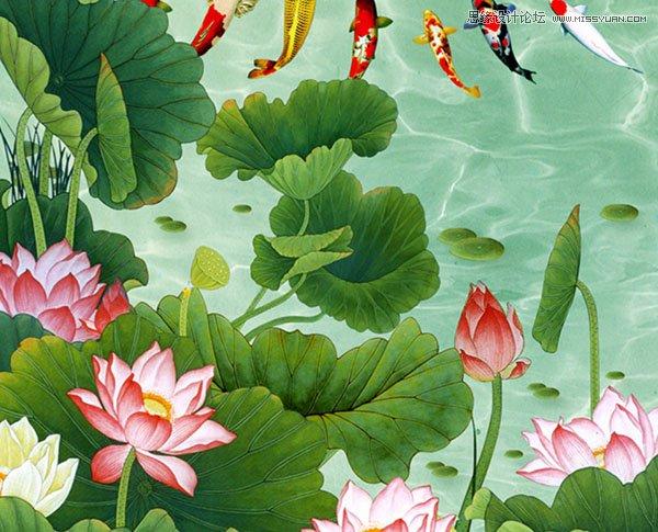 photoshop转载荷花风中国效果教程图案-ps绘制折扇秋季护肤品海报六合无绝对片