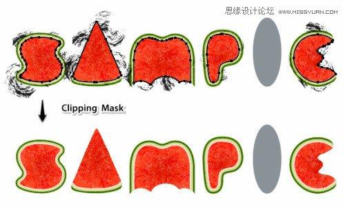 重复上面的步骤,现在你的西瓜应该入下图所示: 选择letterm 的另一个